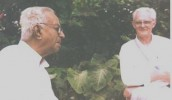 Robert Priddy, with his and my dear friend, the late V.K.Narasimhan, one of India's most courageous and outstanding newspaper editors. Narasimhan privately expressed deep troubles about Sathya Sai Baba's conduct and that of some of his core leaders