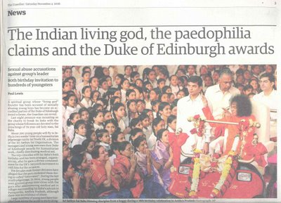 The UK Guardian Exposes Indian Guru, Sai Baba