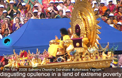 Golden Glitter For Sai Baba's 83rd Birthday