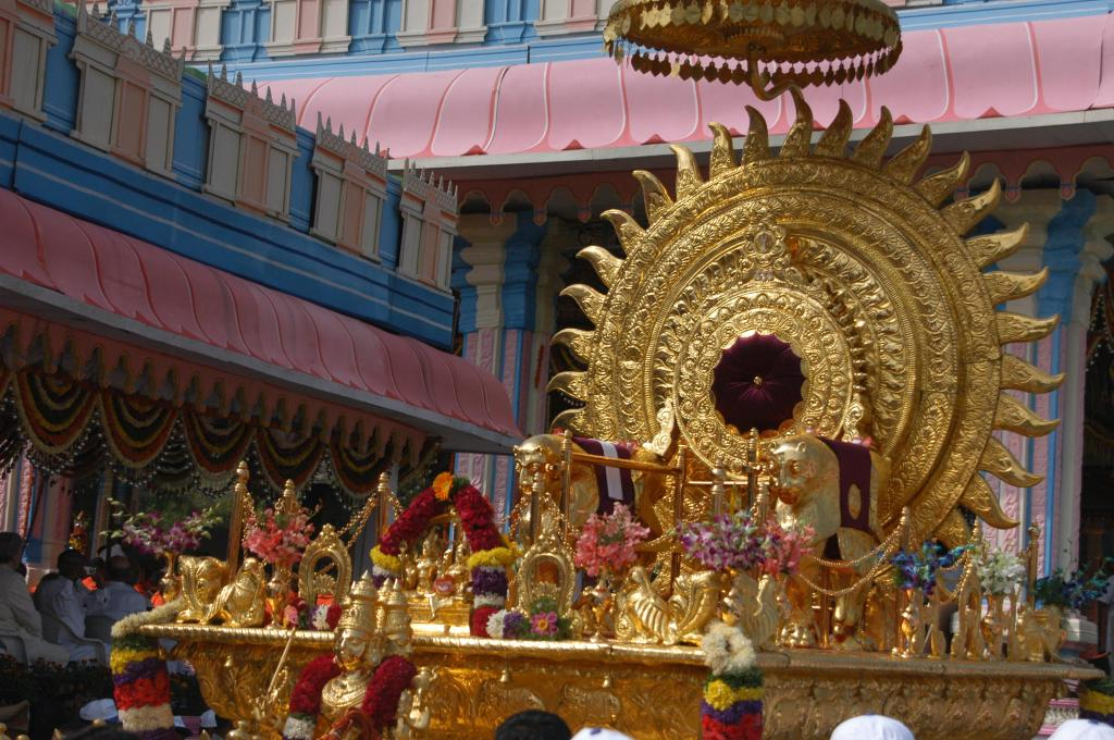 The Gold and Glitter of Imperial Pomp At Puttaparthi