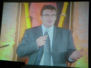 Tony McNulty British MP. Sathya Sai Baba Behind Him