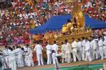 Sathya Sai Baba Mounted In Pure Gold Spendour