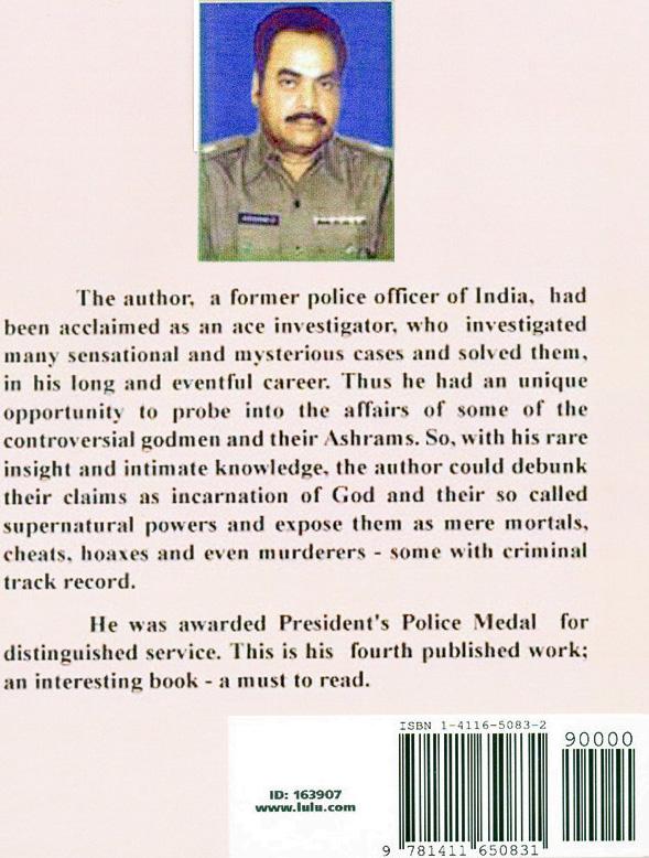 V.J.Ram. Senior Indian Policeman. Presidential Award Recipient