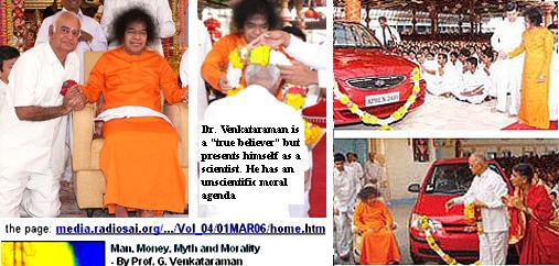 Sathya Sai Baba Felicitates Deputy, Dr G. Venkataraman,With Car