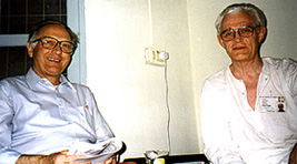 Erlendur Haraldsson and Robert Priddy, Puttaparthi, 1996