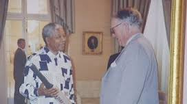 """From Business Review Weekly (Australia), Updated 06 December 2013 11:22 :  """"Nelson Mandela first met former Australian prime minister Malcolm Fraser in March 1986. By then, Mandela had been in prison for almost 23 years. """"The first thing Nelson Mandela said to me, speaking formally: 'Mr Fraser, is Don Bradman still alive?'"""" Fraser recalls. He met Mandela as one of the Commonwealth Eminent Persons Group, a body charged with promoting dialogue between the apartheid National Party government and the then-outlawed African National Congress (ANC), and wrote about the meeting in a document commemorating Australian-South African relations. The former prime minister assured Mandela Bradman was still alive. He was also later able to give Mandela a present – a cricket bat inscribed by The Don. """"To Nelson Mandela in recognition of a great unfinished innings,"""" Bradman wrote."""